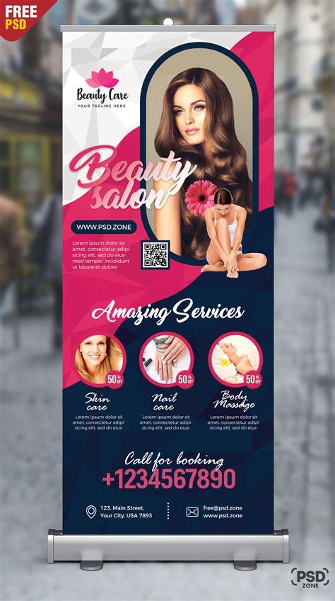 beauty salon roll  banner psd psd zone