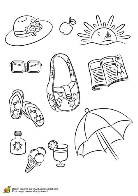 coloriage les accessoires de plage