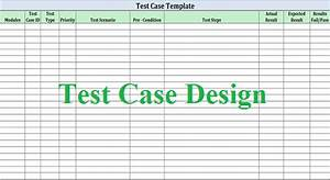 Software test design work for quality for Software test results template