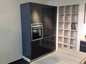 Hochschrank Küche Günstig : q04 inselk che in blaugrau glanz pinie mit griffschienen ~ Frokenaadalensverden.com Haus und Dekorationen