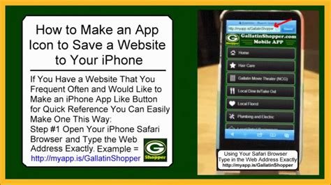 how to onto iphone how to make an app icon to save a website to your iphone