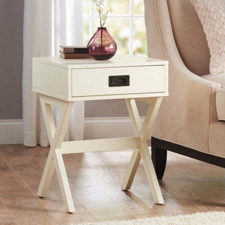 better homes and gardens x leg accent table with drawer