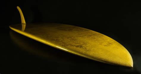 most expensive the worlds most expensive surfboard is handmade with 24k