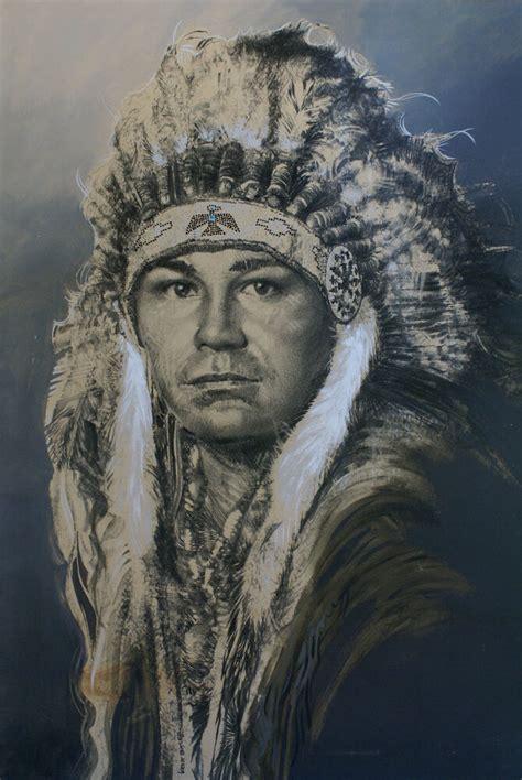 Big Native American Indian Chief Western Art Acrylic