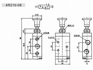 Two Position Five Way Manual Operated Hand Valve 4r210
