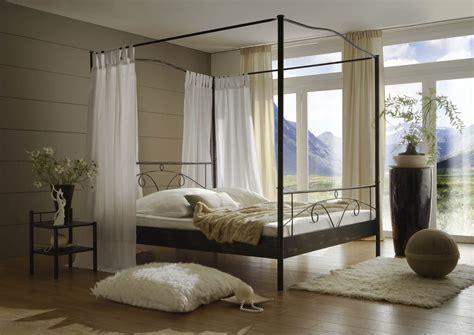 SAM® Metall Himmelbett schwarz 140 x 200 cm Castello