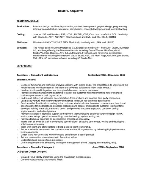 technical skill set in resume technical skills list for resume sales technical lewesmr resume template 2017