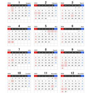 calendar printable holidays list
