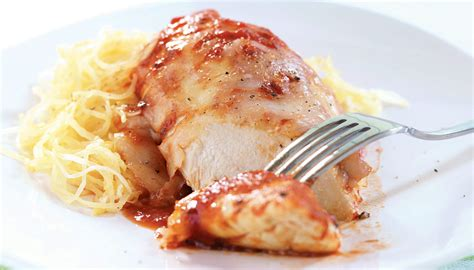 chicken parmesan spaghetti squash baked chicken parmesan with spaghetti squash sobeys inc