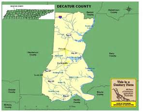 Decatur County Tennessee Map