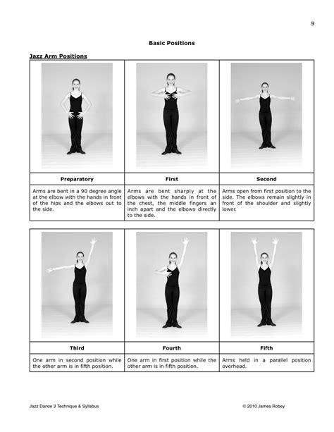 position de danse moderne jazz jazz arm jazz