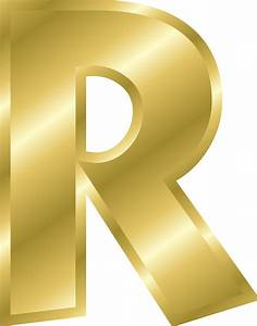 clipart effect letters alphabet gold With gold letter printing