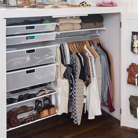 white elfa small closet  container store