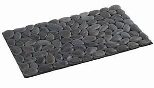 tapis salle de bain galet With tapis de bain galets