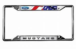 2015-2018 Mustang Flags License Plate Frame - RPIDesigns.com