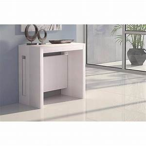 Table Console Extensible : consoles extensibles tables et chaises console extensible grandezza blanche inside75 ~ Teatrodelosmanantiales.com Idées de Décoration