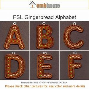 Fsl gingerbread alphabet christmas ornaments free standing for Gingerbread letter ornaments