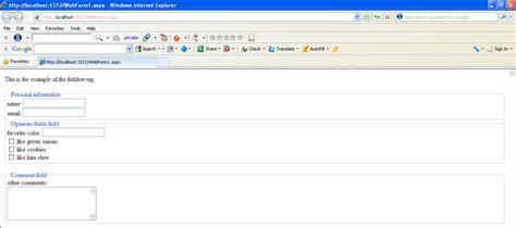 fieldset tag in html5