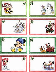 Mickey Christmas Tags Mickey Mouse Gift Tags Free