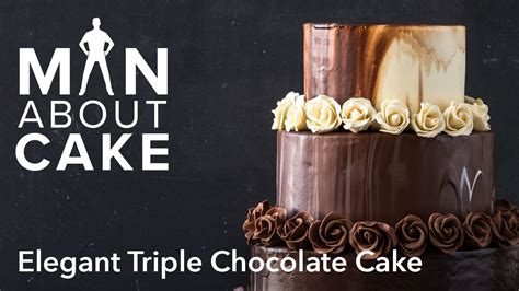 man  elegant triple chocolate cake man  cake