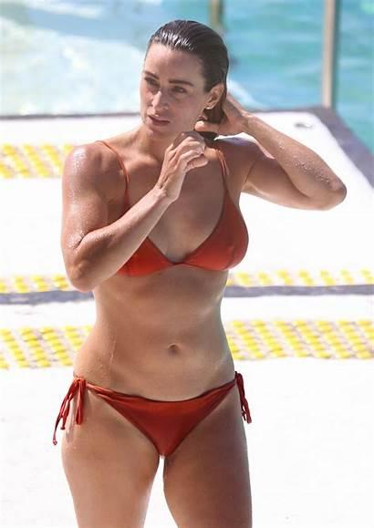 Rachael Bikini Gouvignon Sydney Pool Orange Hawtcelebs
