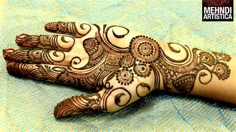 easy simple beautiful circular mehndi designs  hands