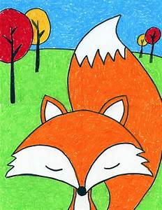 Cartoon Fox - Art Projects for Kids