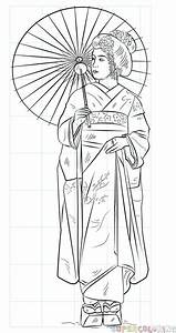 How To Draw A Japanese Geisha Step By Step Drawing Tutorials