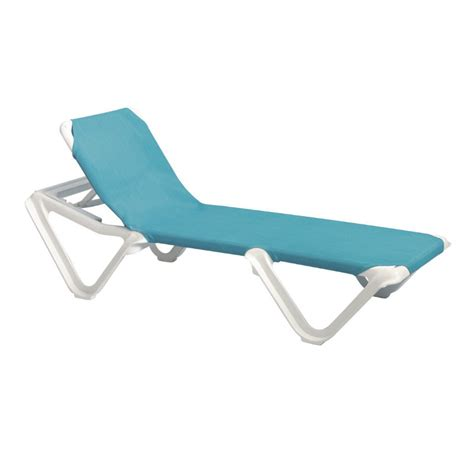 chaise grosfillex grosfillex nautical adjustable resin sling chaise lounge