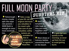 Full Moon Party Dates 20182019 Fullmoon 2018 Schedule