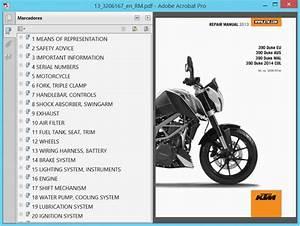 Ktm Duke 390  2013  - Service Manual