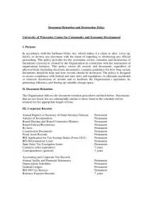 Document Retention Policy Template by Template Free Document Retention Policy Template