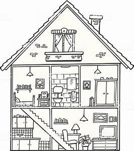 House Interior Stock Illustration