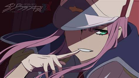 darling   franxx green eye    hat hd anime