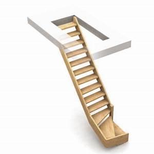 Escalier Double Quart Tournant Pas Cher : escalier 1 4 tournant droit bois normandie cm 13 ~ Premium-room.com Idées de Décoration