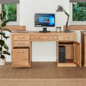 Mobel Oak Twin Pedestal Computer Desk Was 71000 Now 557