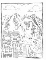 Coloring Ski Pages Popular sketch template