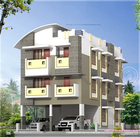 three story homes 3 story home design in 3630 sq kerala home design and floor plans