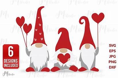 Valentine Gnomes Svg Gnome Valentines Cut Svgs