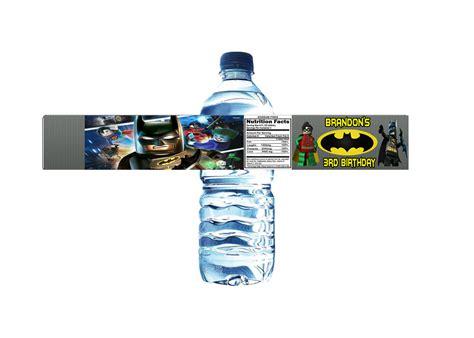 printable lego water bottle labels