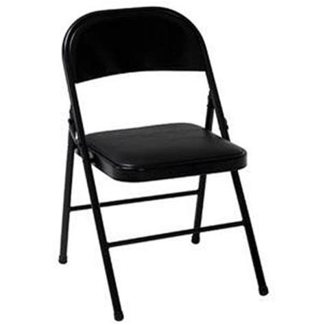 mainstays padded folding chair black other home
