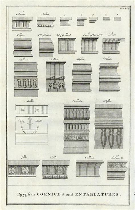 Cornice Architecture by And Antique Prints And Maps Architecture