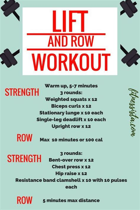 rowing workout workouts row lift machine rower indoor body strength weight circuit cardio fitness total fitnessista machines exercise lifting routines