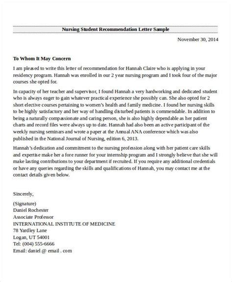 nursing recommendation letter teacheng us