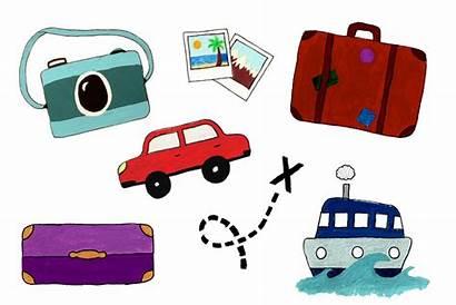 Travel Clip Clipart Transparent Bag Camera Sea