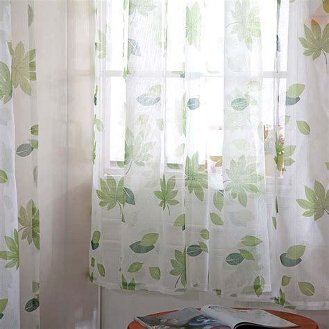 Sheer Voile Curtains Uk by Uk Floral Pattern Voile Room Window Curtain Sheer Panel