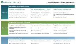 webinar plan template demand metric