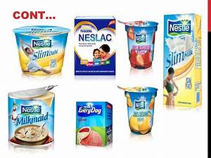 Product line of nestle