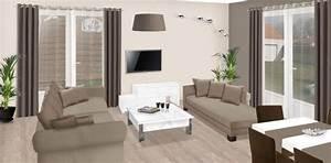 Relooker notre salon salle a manger for Attractive mur couleur lin et gris 6 idee rellooker maison