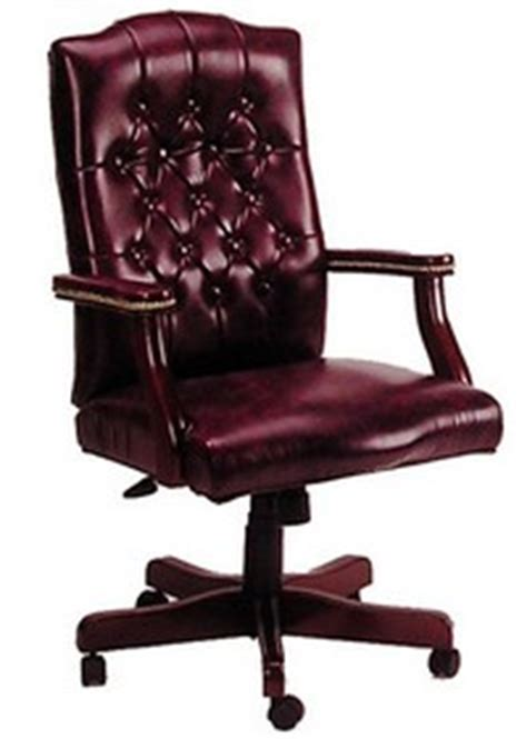 maroon leather office chair from rof